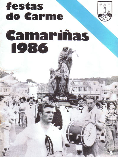 Portada do Boletín das Festas do Carme de 1986