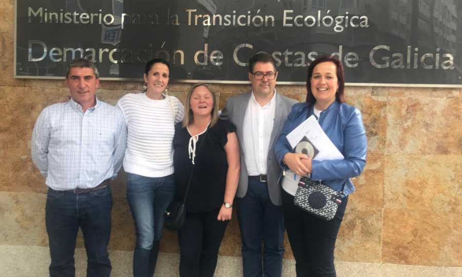 Proveitosa reunión do equipo de Sandra Ínsua co director de Costas do Estado